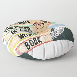Feminist Ruth Bader Ginsburg RBG Quote Girl With Book Women Floor Pillow