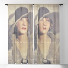 Claire Windsor, Vintage Actress Sheer Curtain