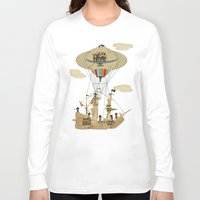 pirates Long Sleeve T-shirts featuring sky pirates by bri.buckley