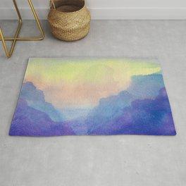 Purple Clouds - Watercolor Texture Rug
