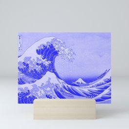 Cobalt Blue Porcelain Glaze Japanese Great Wave Mini Art Print