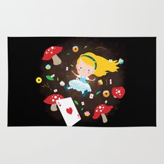 Alice Falling Down the Rabbit Hole Rug