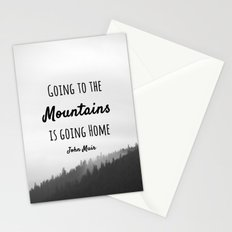 Going to the Mountains is going Home Stationery Cards