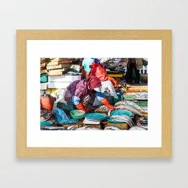 Busan Fish Monger Framed Art Print
