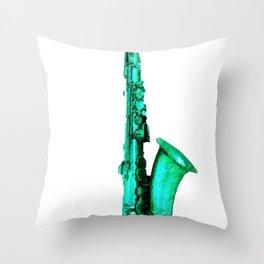 Blue And Lonesome Sax Saxophone Music Musical Musician Music Teacher Student Throw Pillow