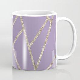 Classic Lavender Gold Geo #1 #geometric #decor #art #society6 Coffee Mug
