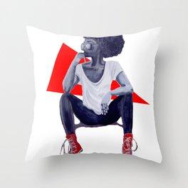 Red Kicks Throw Pillow