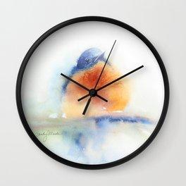 Elusive Bluebird Wall Clock