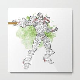 Polyborg white Metal Print