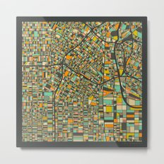LOS ANGELES MAP Metal Print
