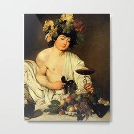 Merisi da Caravaggio - Bacchus Metal Print