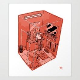Bathroom I Art Print