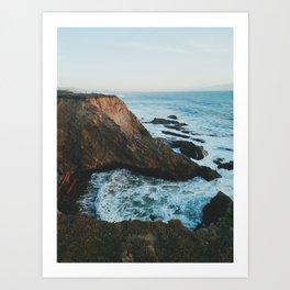 Californian Cliffs Art Print
