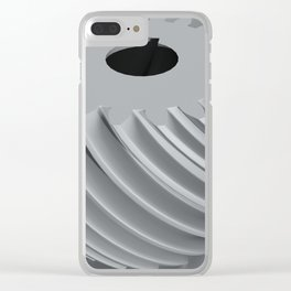Convex helical gear with involute profile toothing Clear iPhone Case