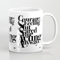 courage Mugs featuring Courage by blugge