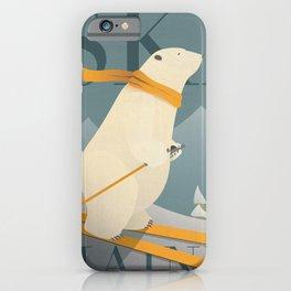 Ski Maine - Skiing Polar Bear iPhone Case