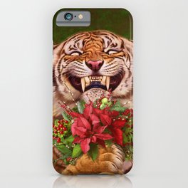 07. Christmas Tiger iPhone Case