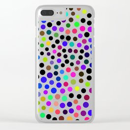Fun Colorful Dots Pattern Clear iPhone Case