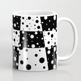 Holes In Black And White Coffee Mug