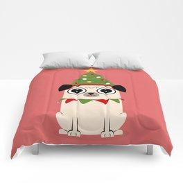 It's Christmas for Pug's Sake Comforters