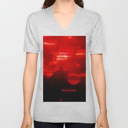 Red Sparkly Lights Unisex V-Neck