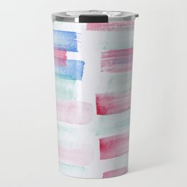17 | 181101 Watercolour Palette Abstract Art | Lines | Stripes | Travel Mug