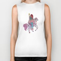 carousel Biker Tanks featuring Carousel by Leigh Wortley