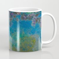 monet Mugs featuring Claude Monet Wisteria by Elegant Chaos Gallery