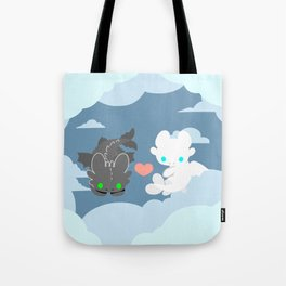 TOOTHLESS and HIS GIRLFRIEND Tote Bag