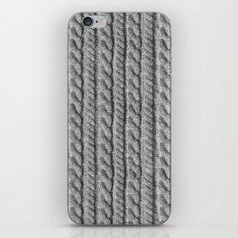 Grey Knit feeling iPhone Skin