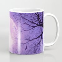 tolkien Mugs featuring May It Be A Light (Dark Forest Moon II) by soaring anchor designs