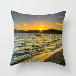 Summer seashore photography Throw Pillow