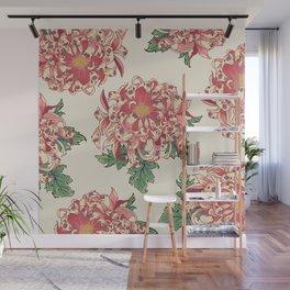 The Chrysanthemum of Pugs Wall Mural