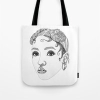 fka twigs Tote Bags featuring FKA Twigs by LaraLindsassy