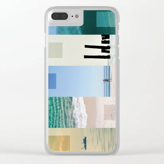 Sea And Sun Clear iPhone Case