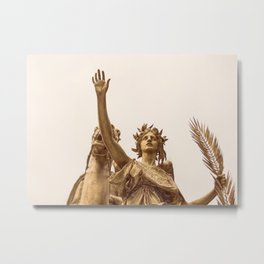 Golden Lady Metal Print