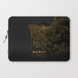 Beirut, Lebanon - Gold Laptop Sleeve