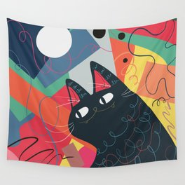 Trumpet Cat Wall Tapestry