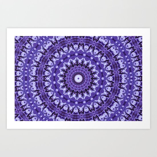 Kaleidoscope Purple Silk Art Print