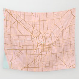 Pink and gold Adelaide map Wall Tapestry