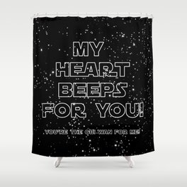 Star Crossed lovers 2 Shower Curtain