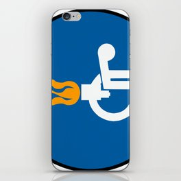 Jet Weelchair iPhone Skin