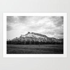Mount Rundle in Banff Alberta Art Print