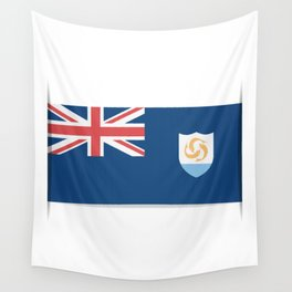 Flag of Anguilla. The slit in the paper with shadows.  Wall Tapestry