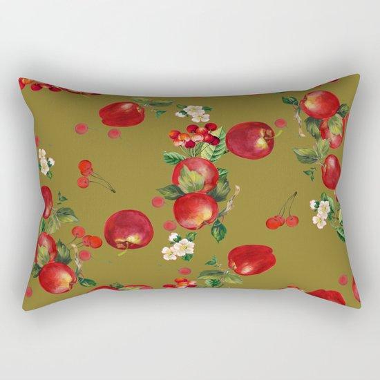cherries and apples 3 Rectangular Pillow