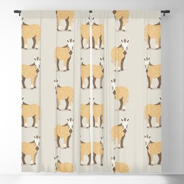 Whimsical Zebra Blackout Curtain
