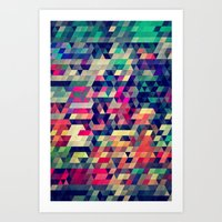 patterns Art Prints featuring Atym by Spires