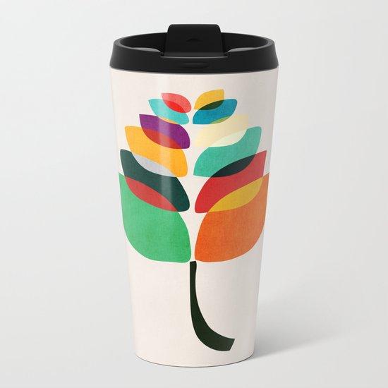 Lotus flower Metal Travel Mug