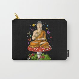 Buddha Magic Mushrooms Meditation Carry-All Pouch