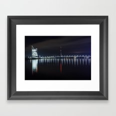 Bridge at evening Framed Art Print
